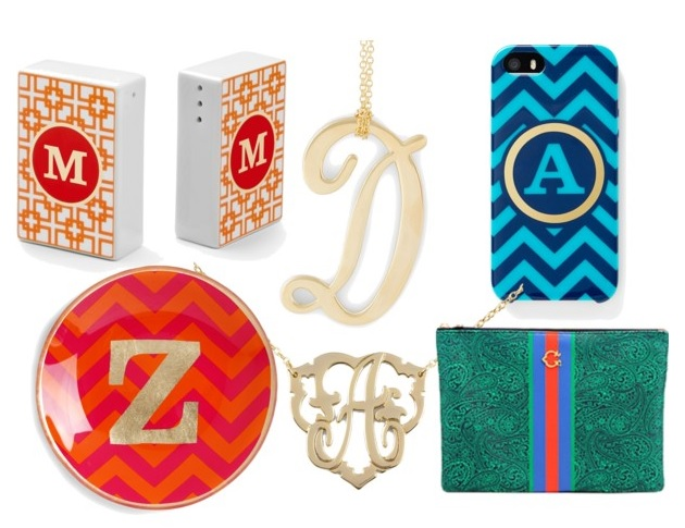 monogram gifts fall 2013