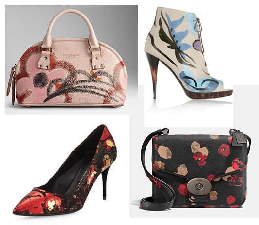 painted handbags painted shoes fall
