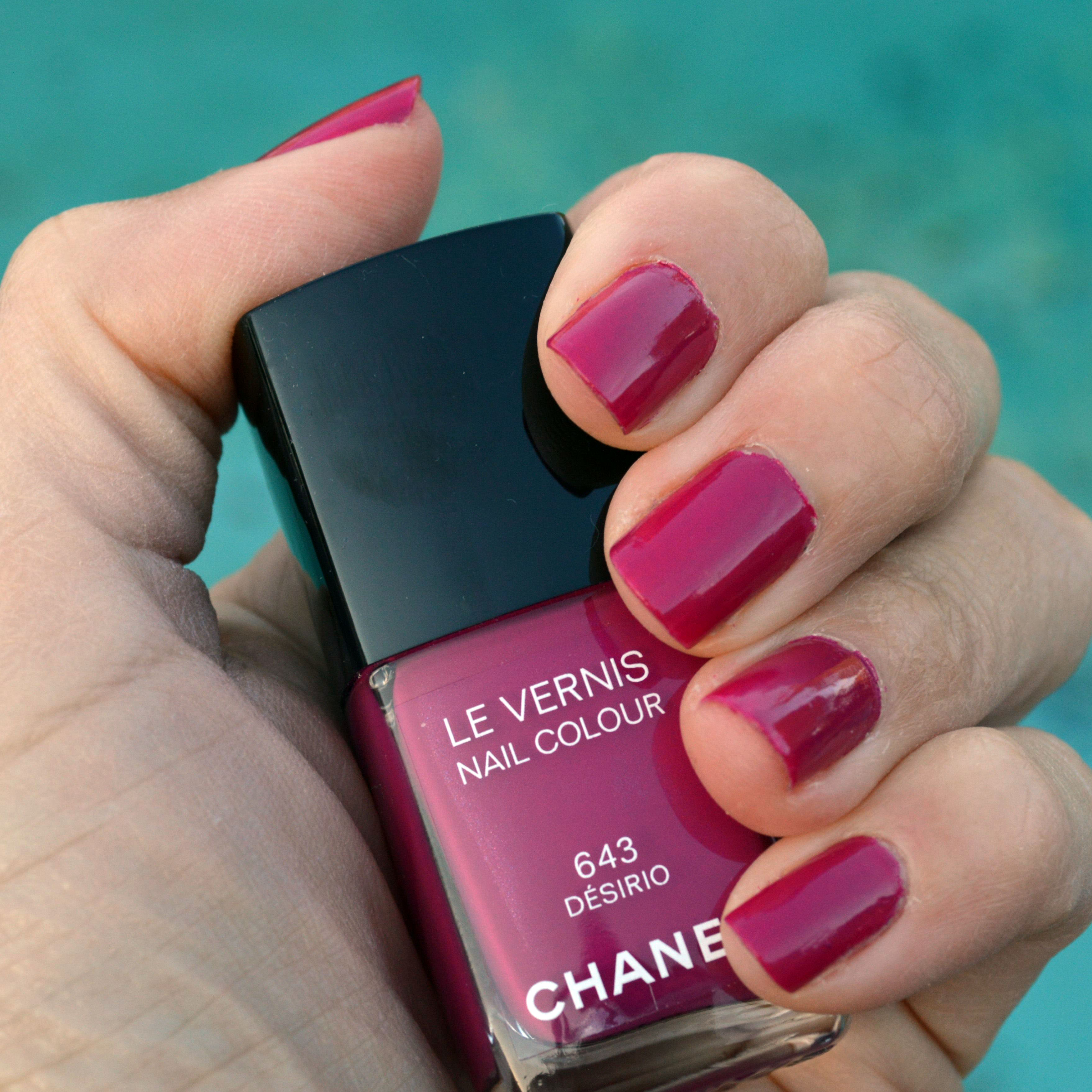 Pictured: chanel desirio nail polish for spring 2015. two coats of