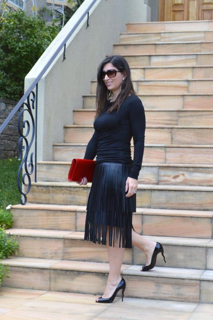 bcbg evening skirt