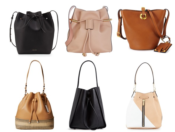 Drawstring bags and bucket bags for spring 2015