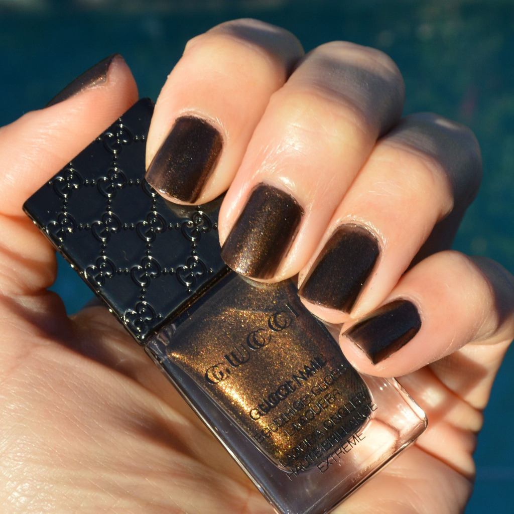 gucci black gold nail polish