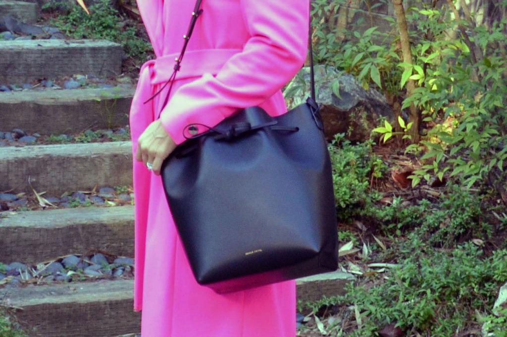 mansur gavriel bucket handbag bag
