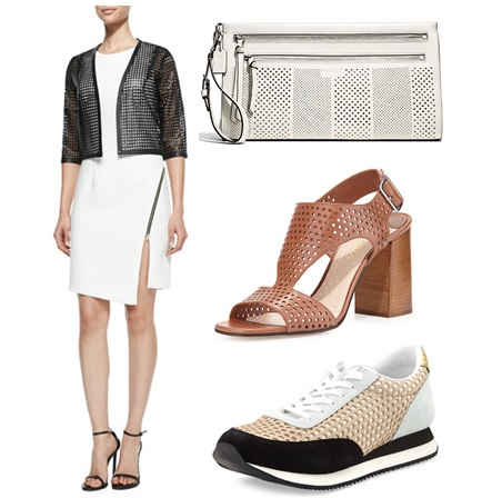 perforated leather spring 2015 jacket shoes handbags