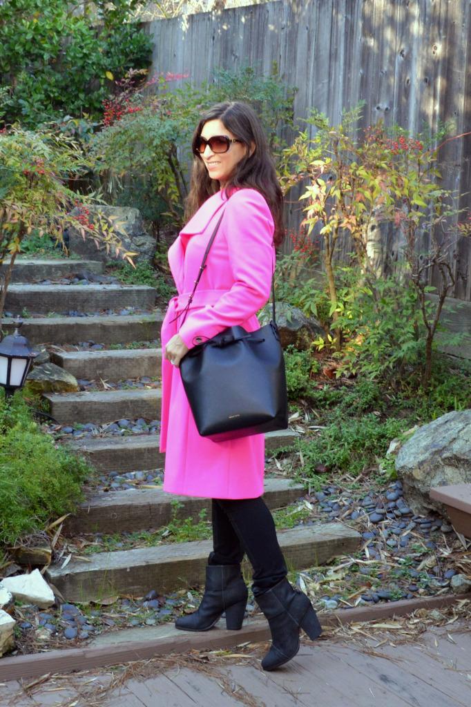 pink coat winter 2015