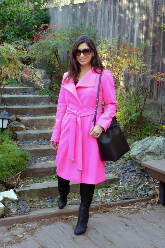 ted baket pink coat