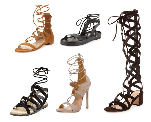 gladiator sandals for spring 2015 flat tall high heels