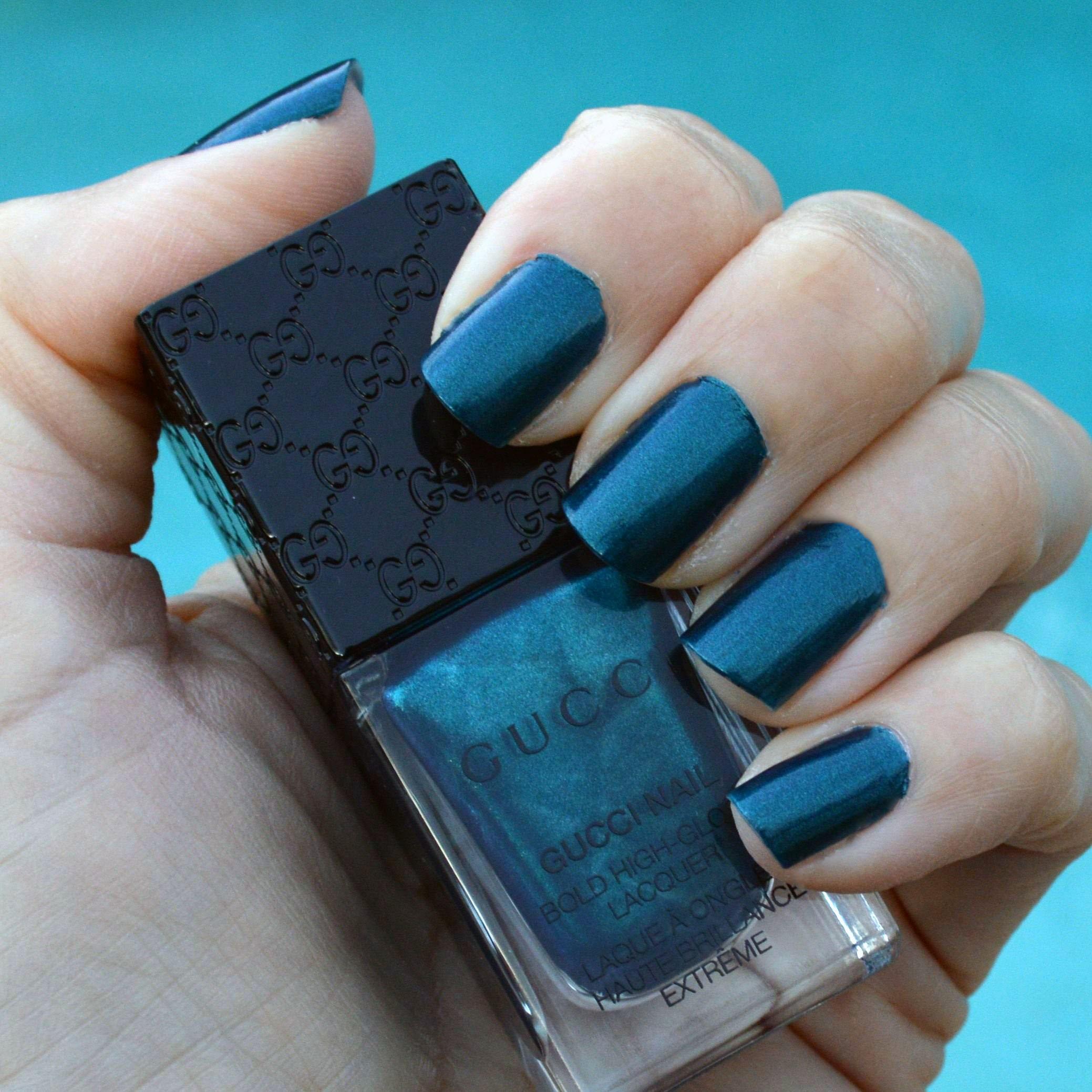 Gucci iconic ottanio nail polish review bay area fashionista for Color ottanio