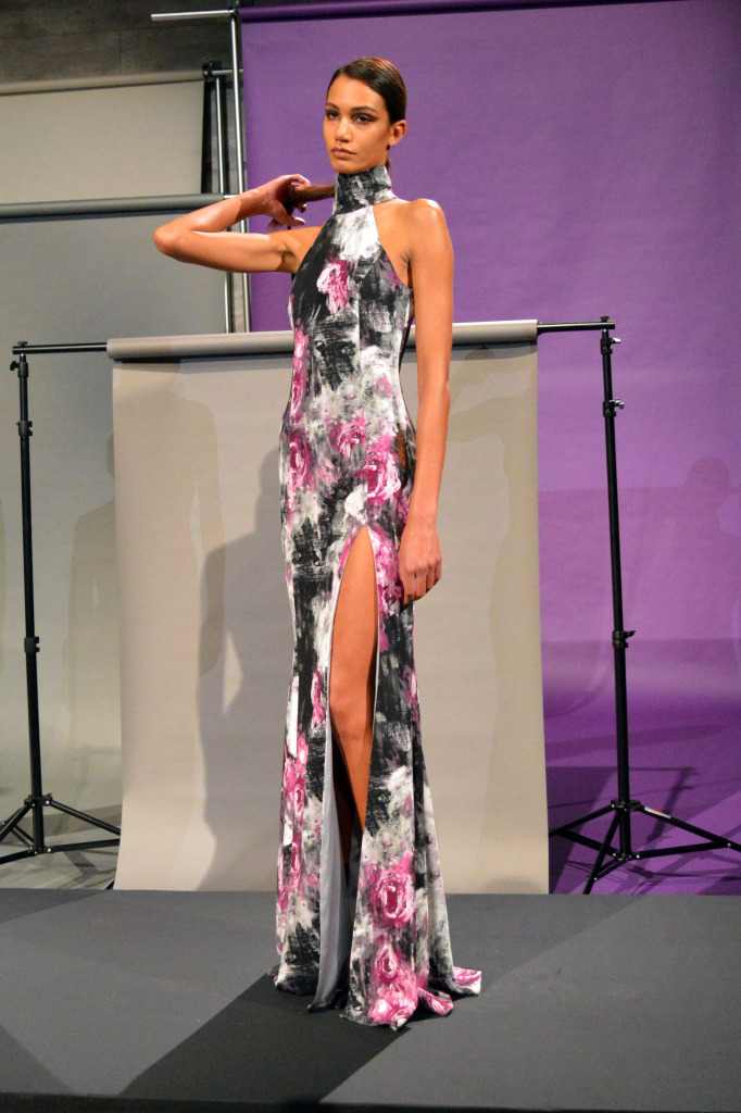 jay godfrey floral dress nyfw