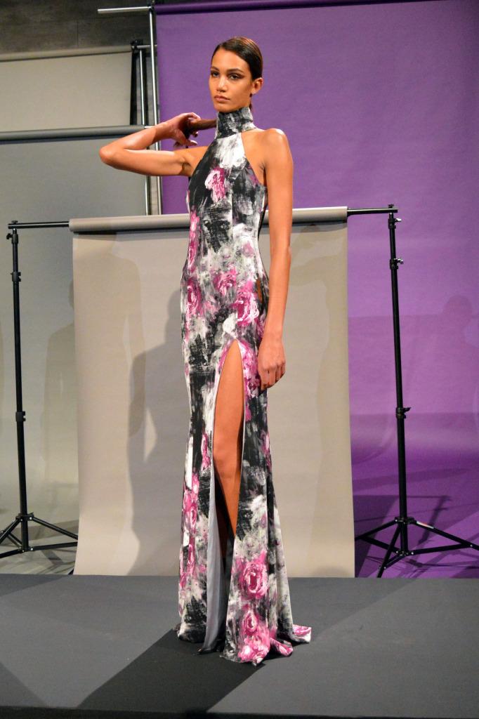 jay godfrey floral dress nyfw