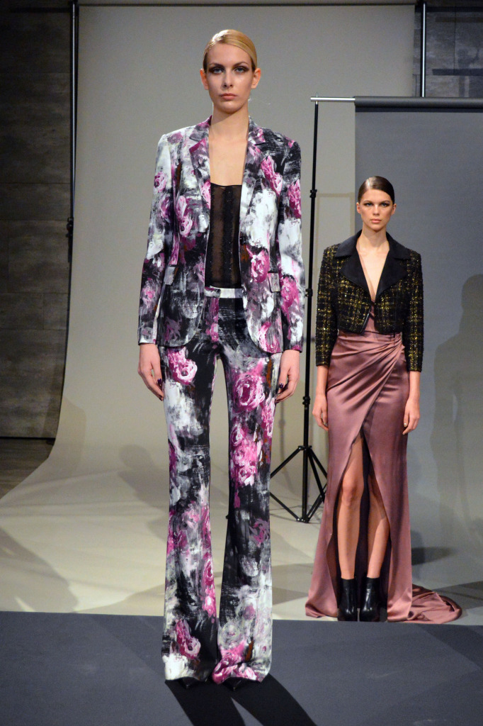jay godfrey floral suit