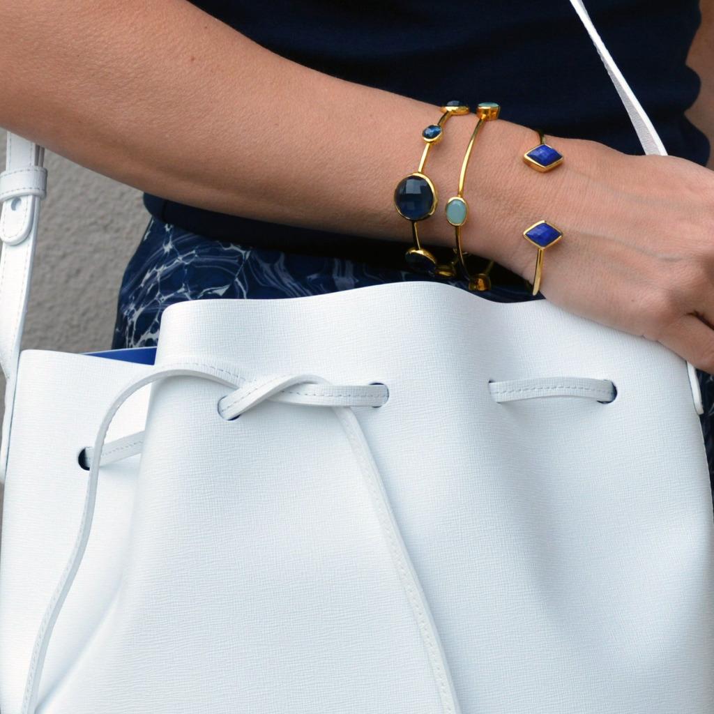 rocksbox bracelets mansur gavriel handbag white blue