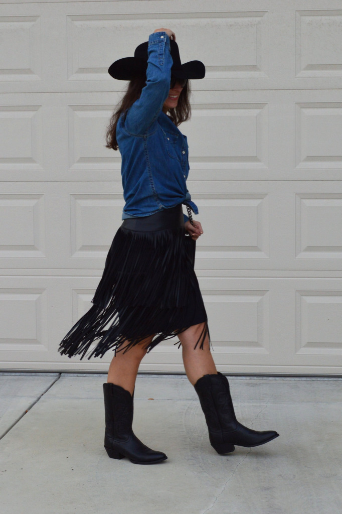 western fringe outfit cowgirl costume idea