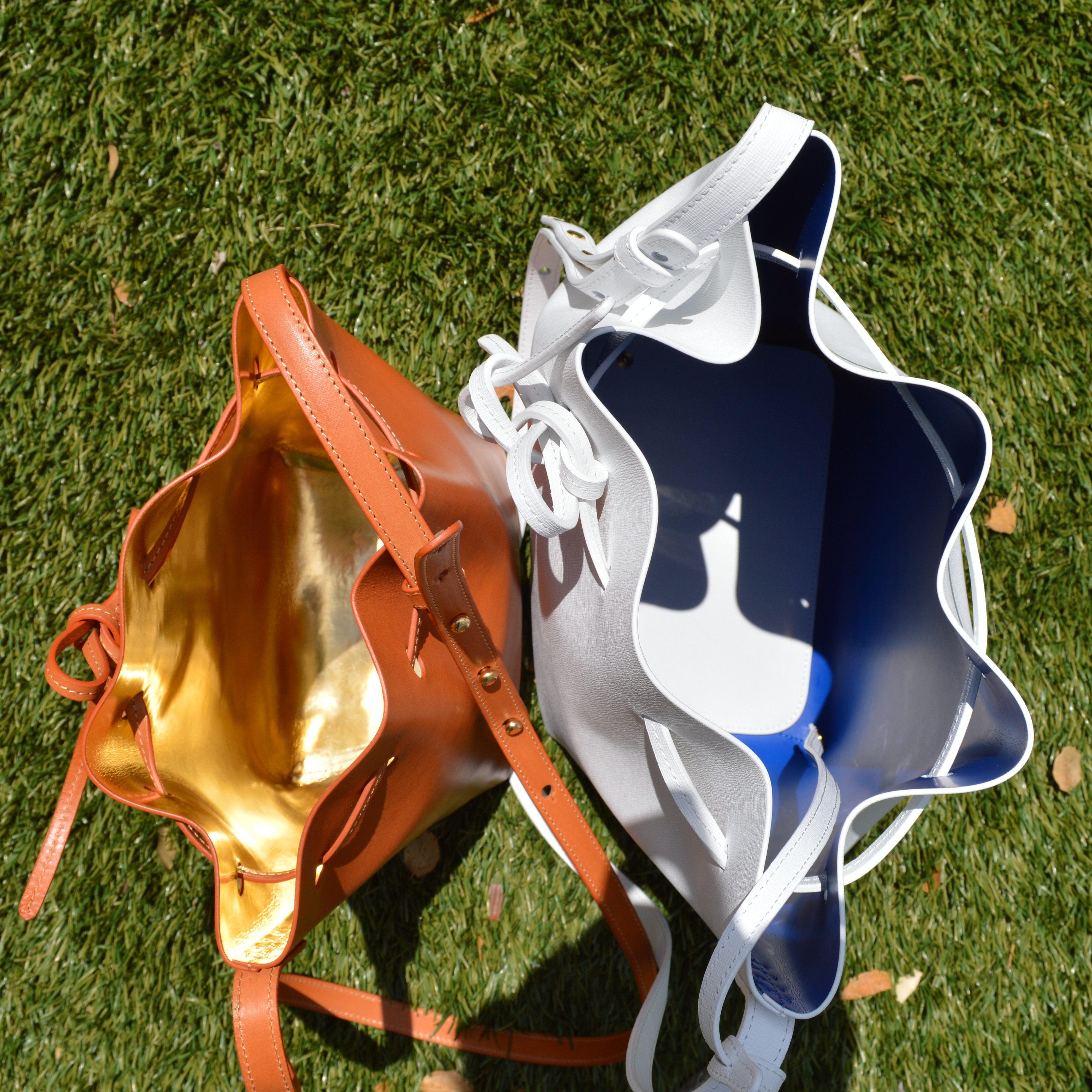 Mansur Gavriel drawstring bucket bag review