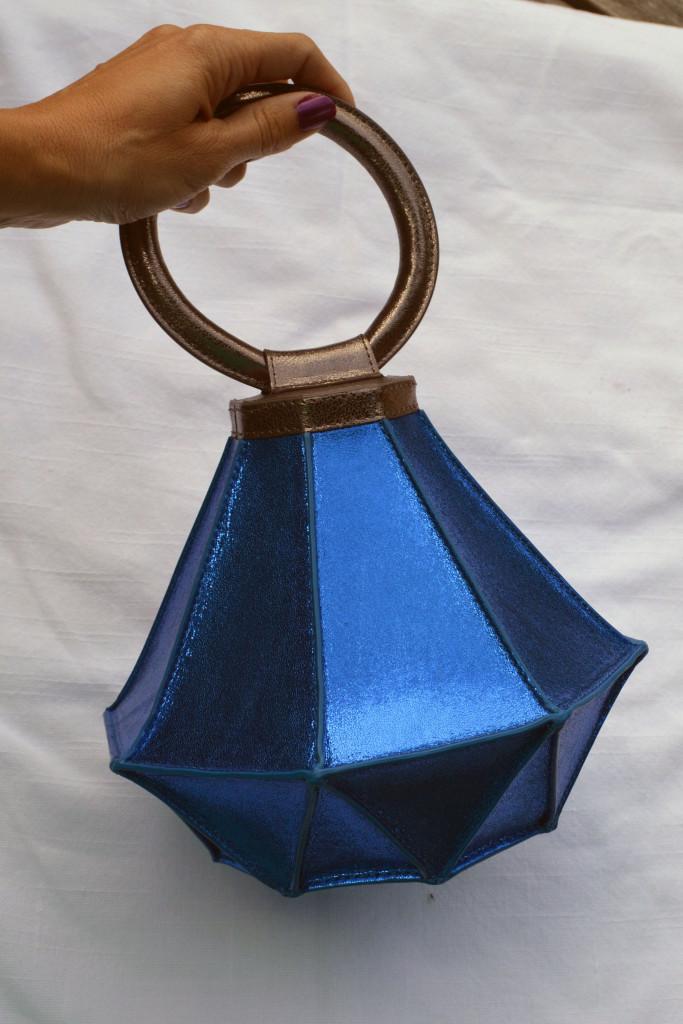 blue diamond ring handbag