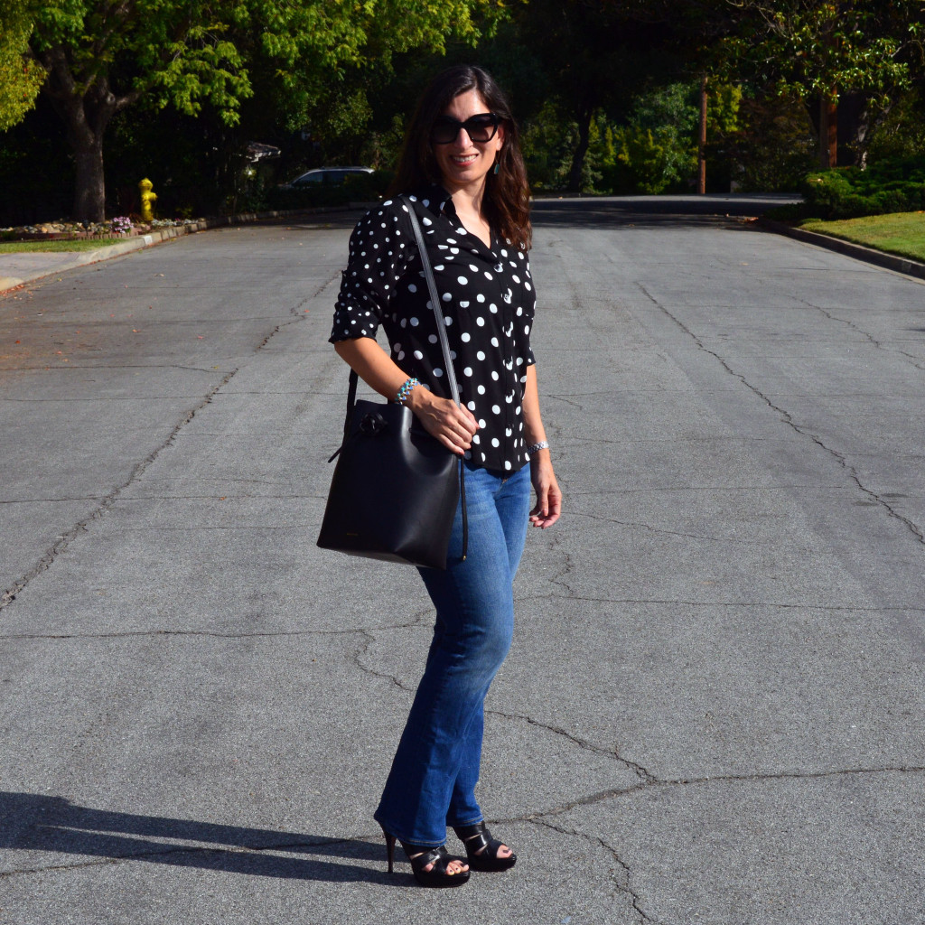casual outfit flare jeans 40 plus style