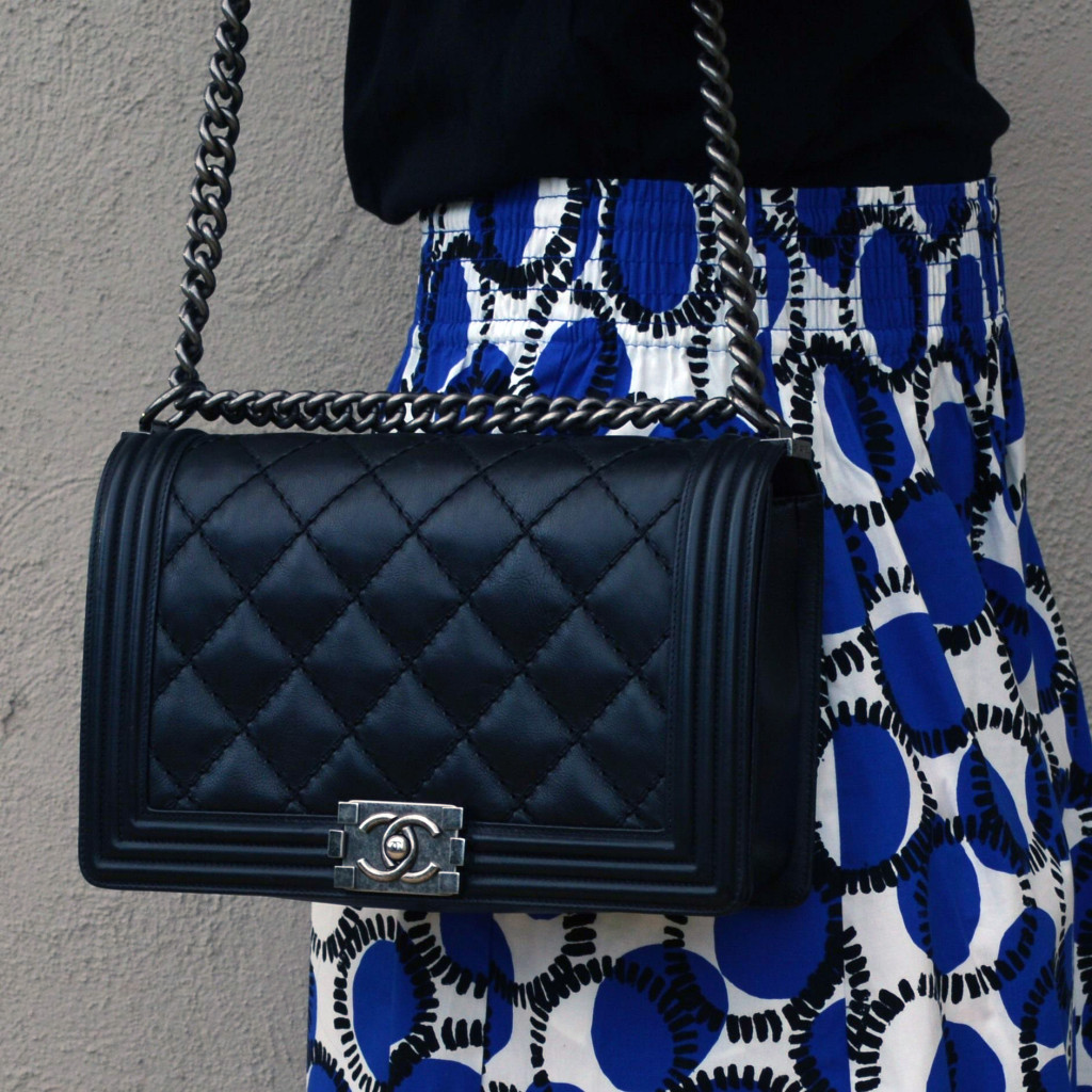 chanel boy bag style fashion blogger outfit idea luxury