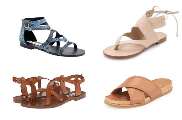 flat sandals for summer 2015