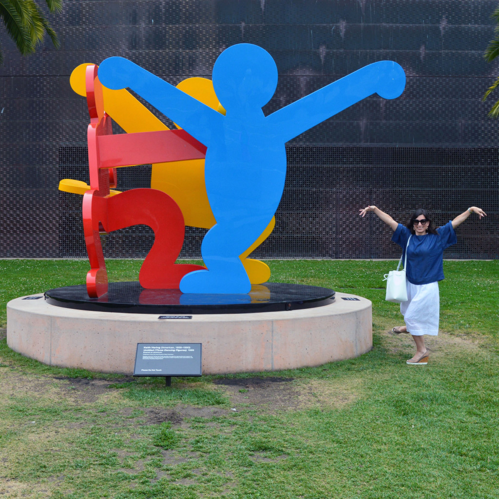 untitled three dancing figures de young museum keith haring
