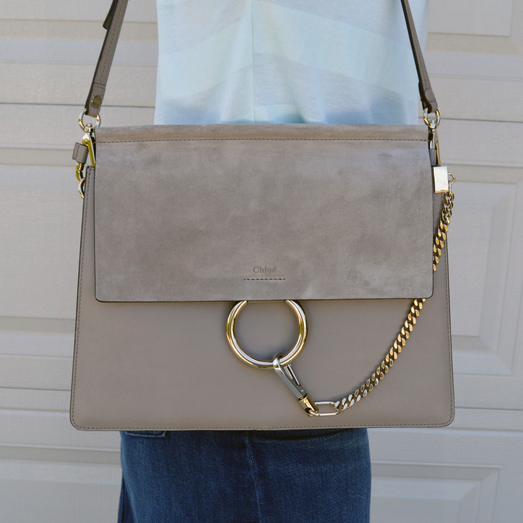 chloe faye medium grey handbag review