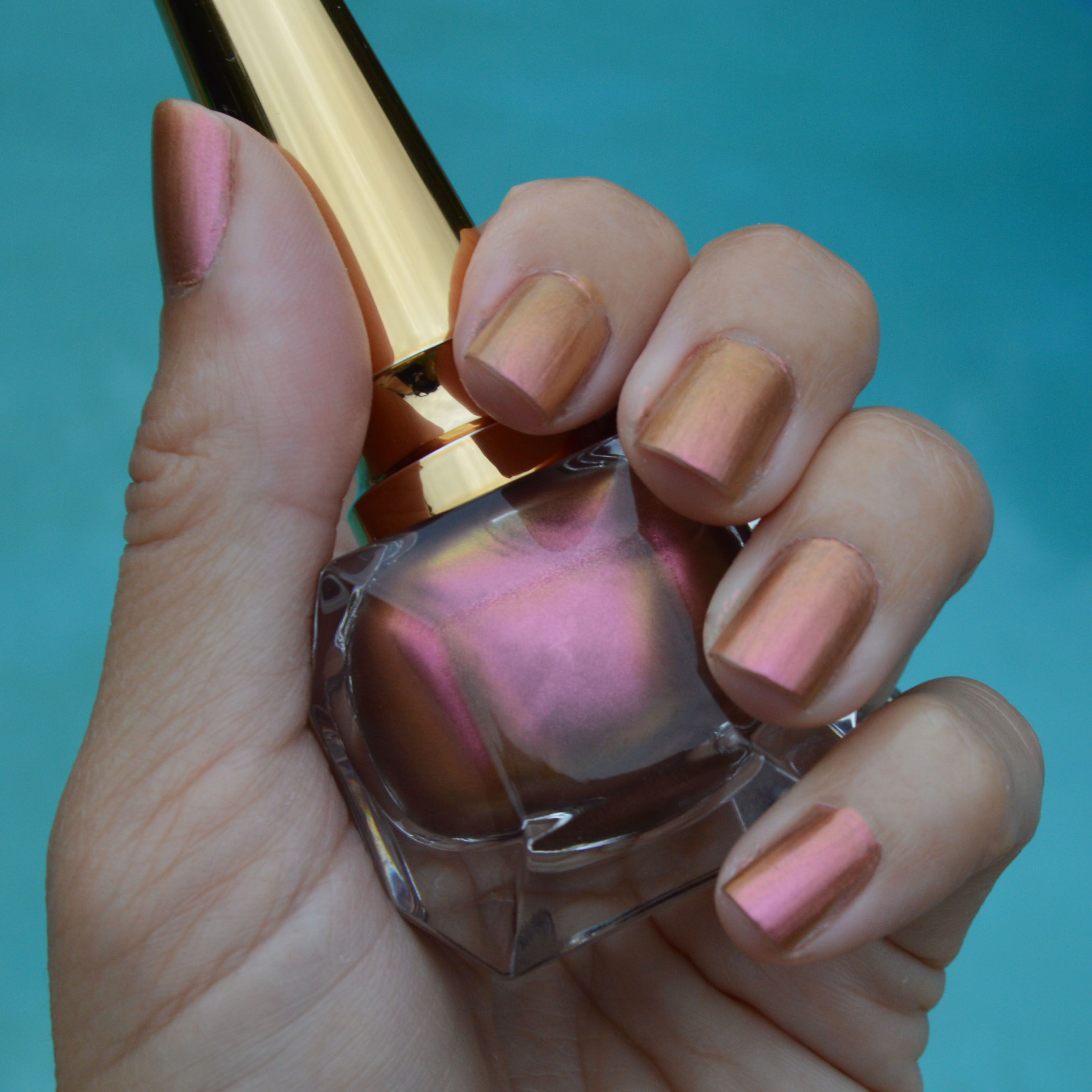 98a29d4744ad Christian Louboutin Nude Pink Gold nail polish from the Scarabee ...