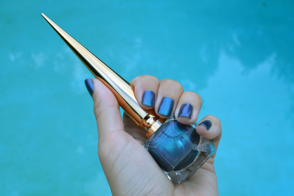 christian louboutin scarabee violet blue nail polish review