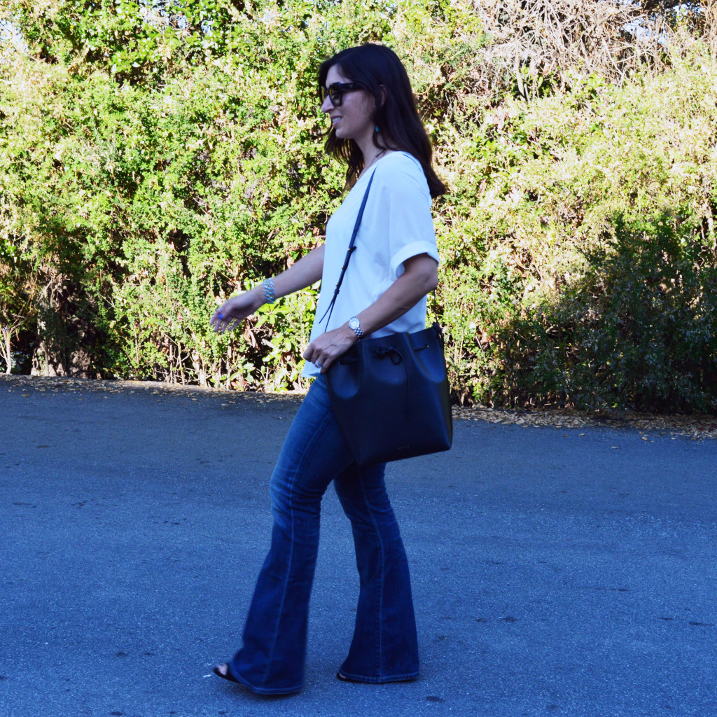 flare jeans for petites outfit ideas casual blogger fashion style