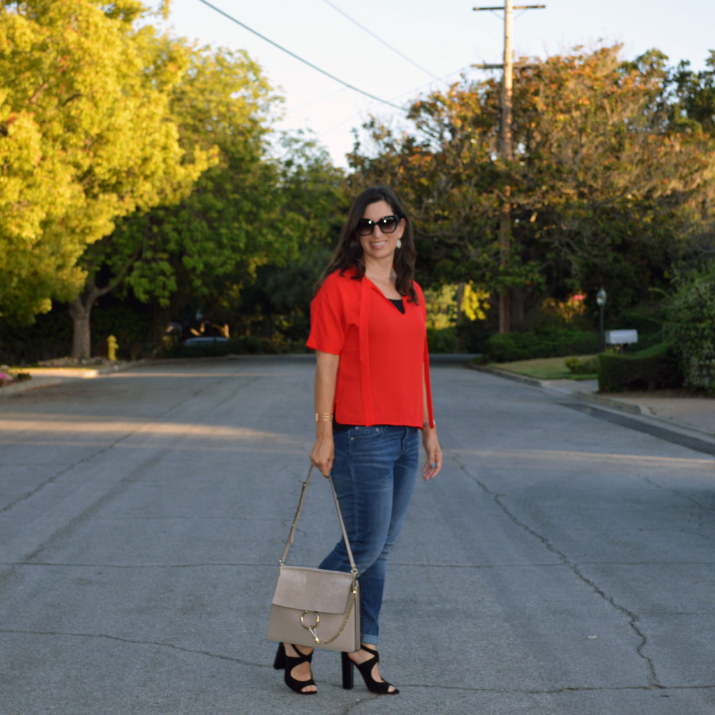 transition from summer to fall outfit idea