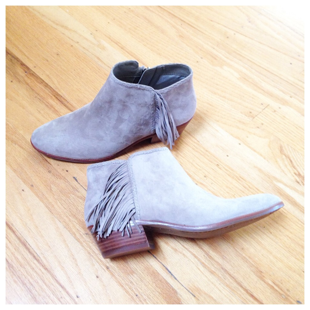 fringe fall booties cute