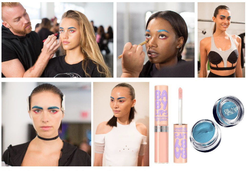 chromat new york fashion week beauty look