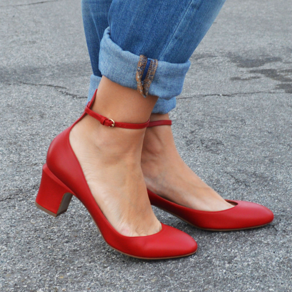 valentino tango pumps in red