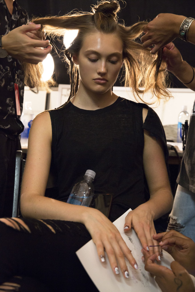 backstage with butter london at nicole miller ss16 nyfw