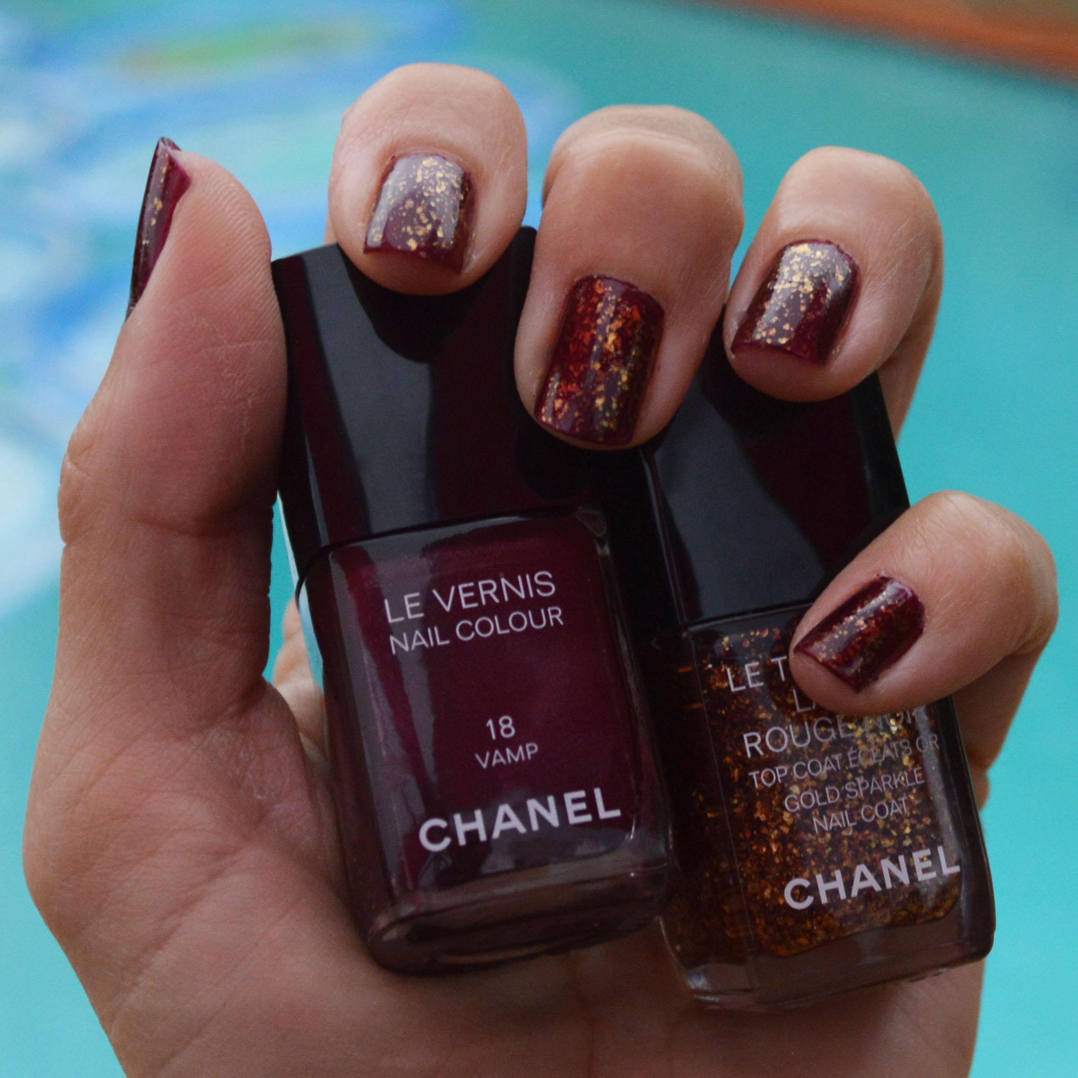 Chanel Le Top Coat Lame Rouge Noir Holidays 2015 Review