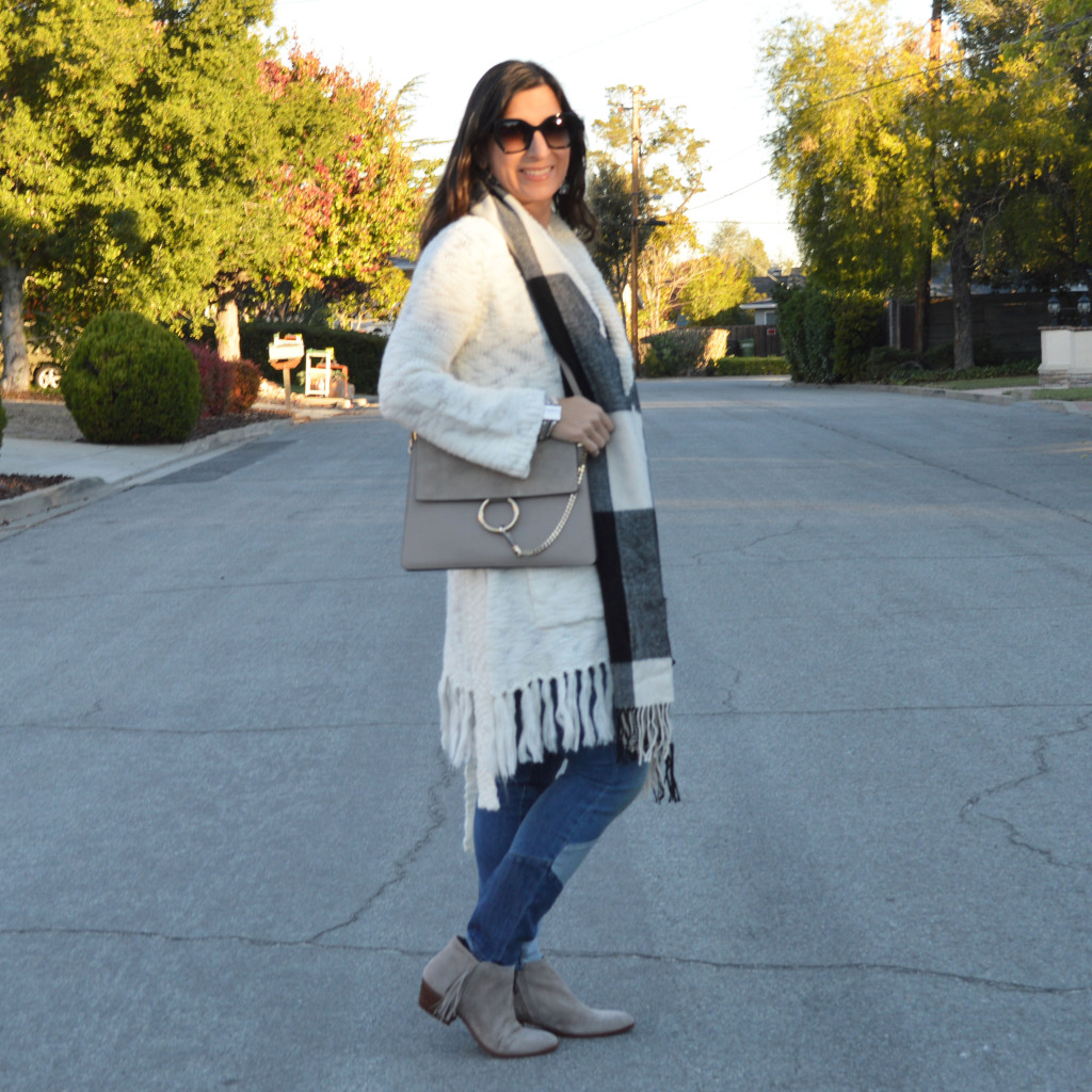 fall outfit wearing laurel burch