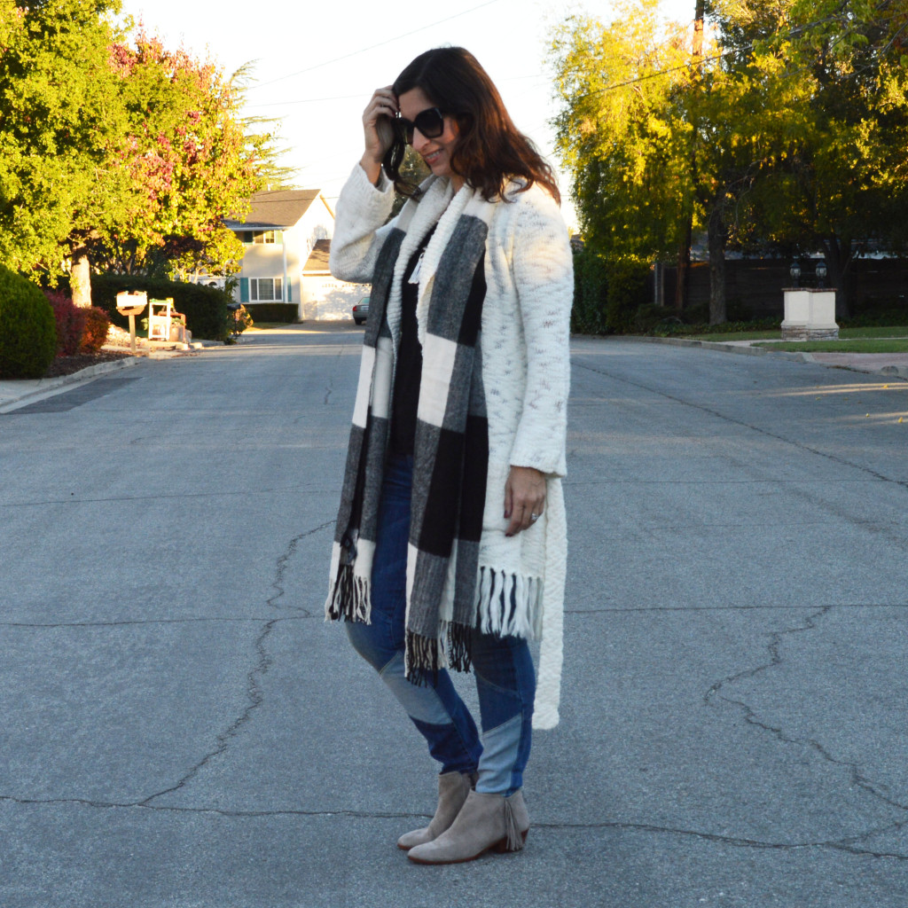 fringe sweater outfit