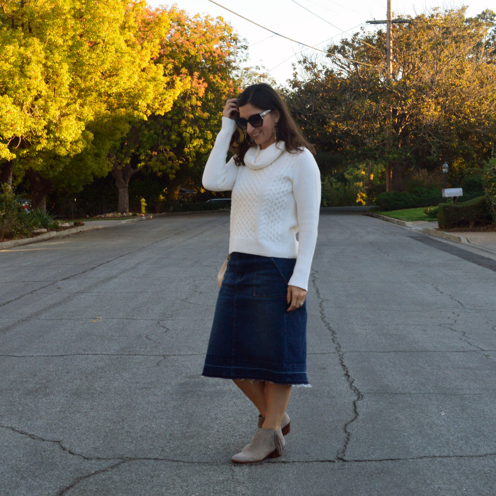 turtleneck sweater outfit for fall