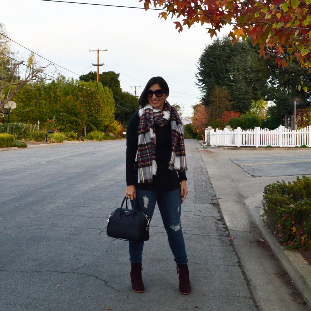 burgundy blanket scarf