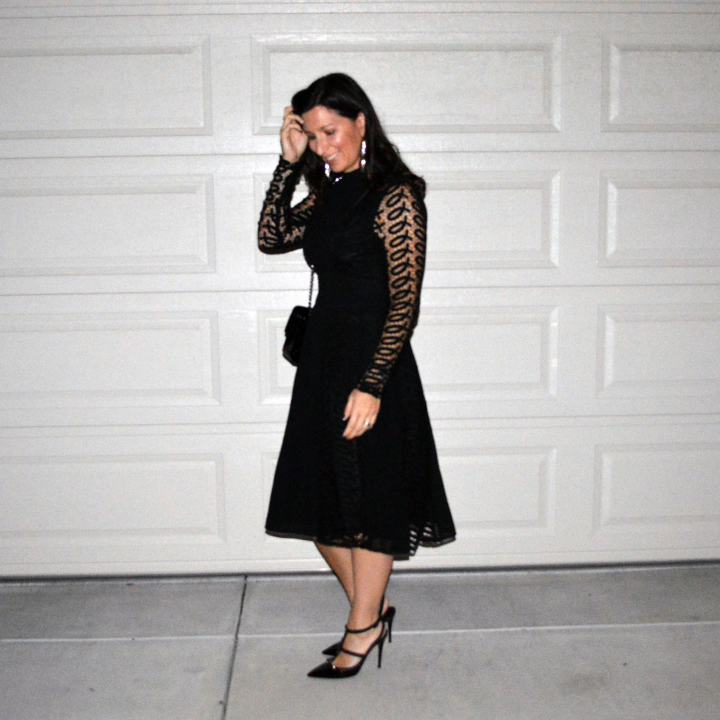 little black holiday party dress