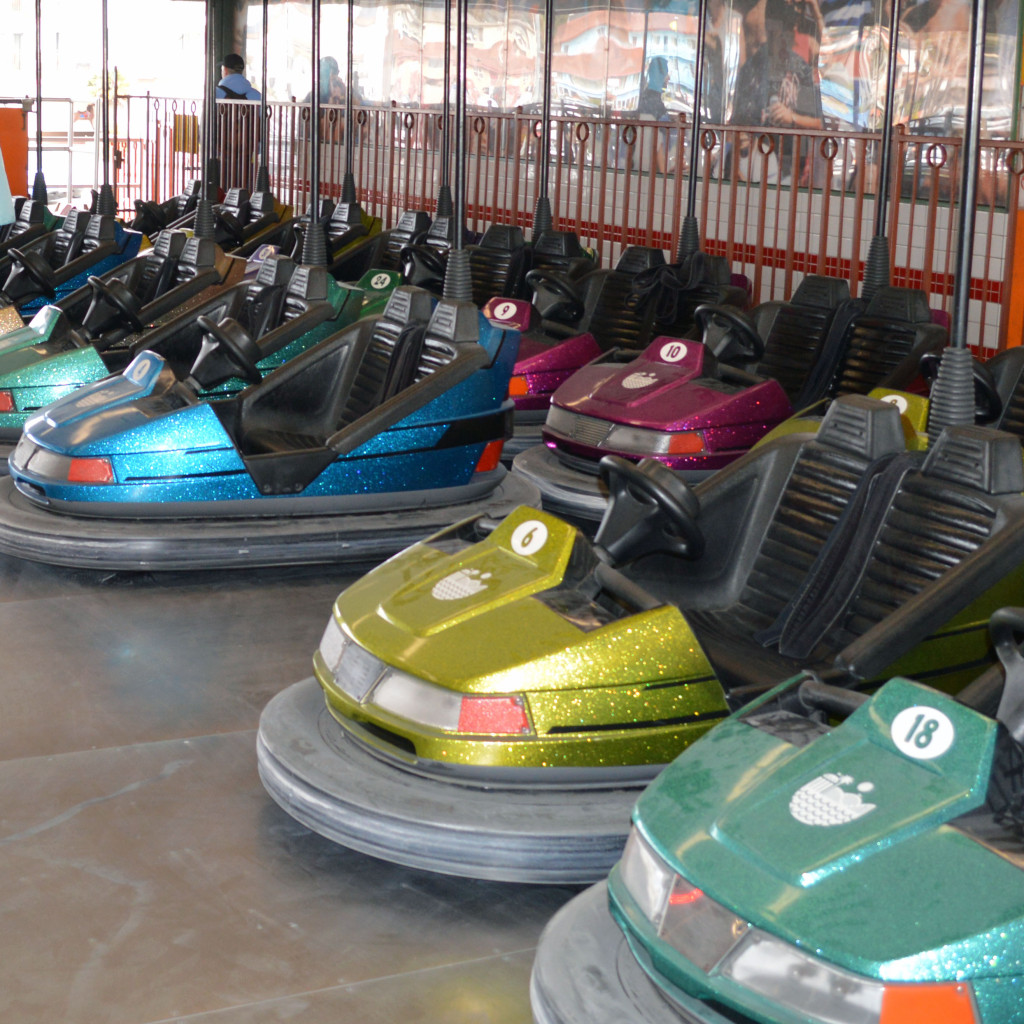 bumper cars in waiting