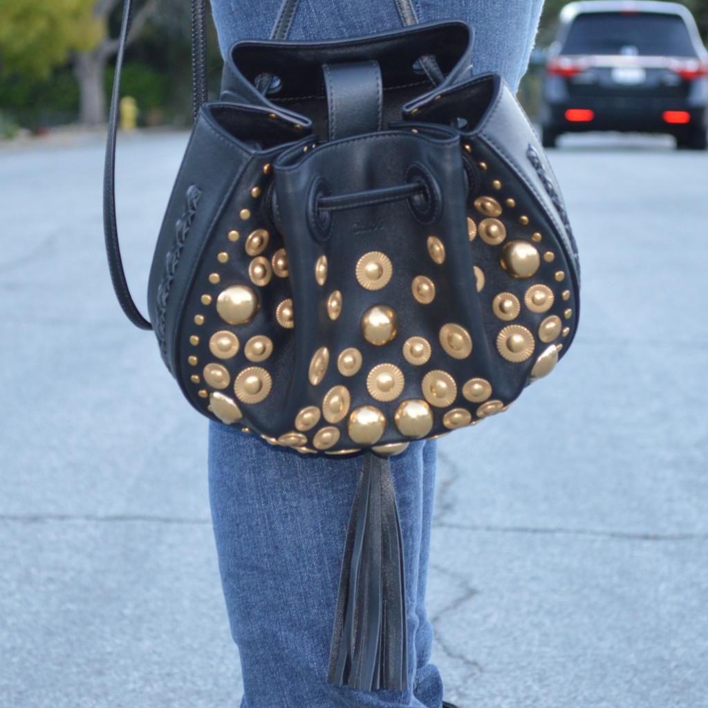 chloe inez handbag in black