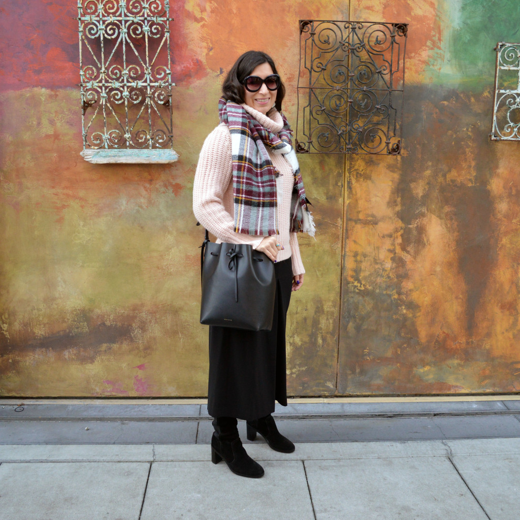 culottes for winter outfit idea