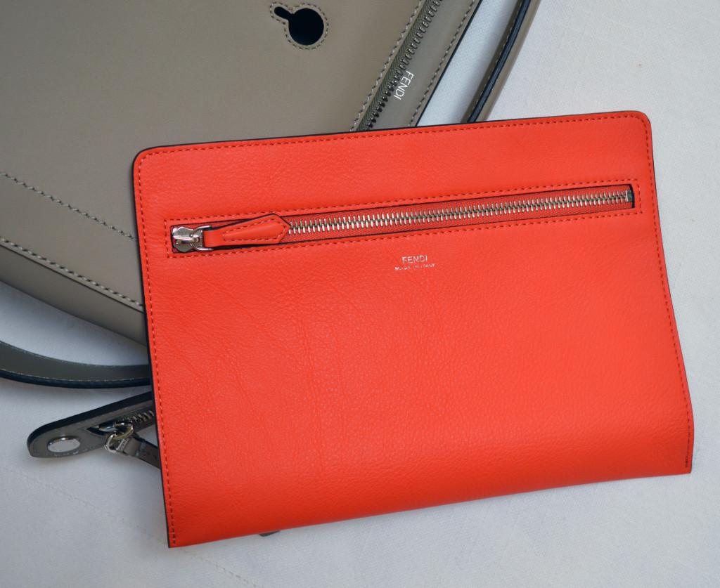 fendi dot com satchel removable clutch