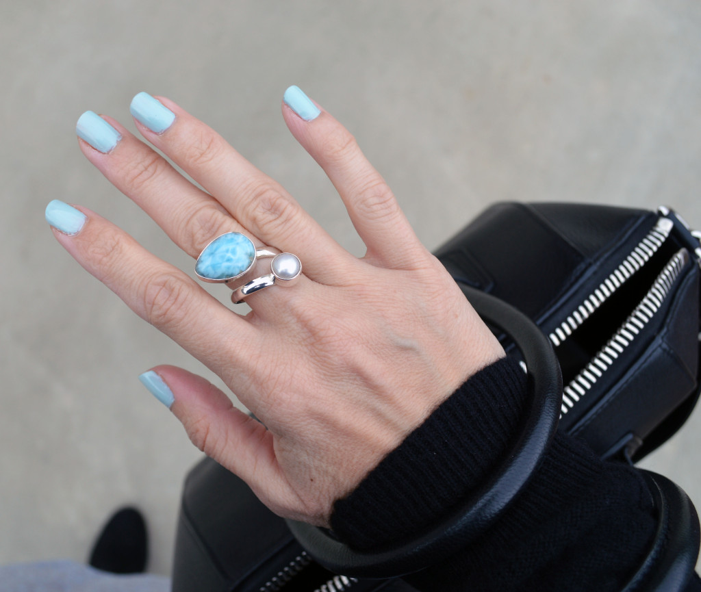 larimar ring and dior nail polish