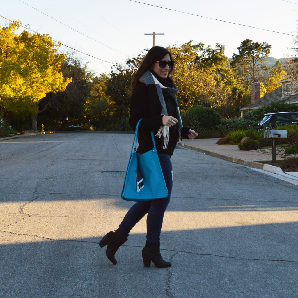 proenza schouler tote and turtleneck sweater