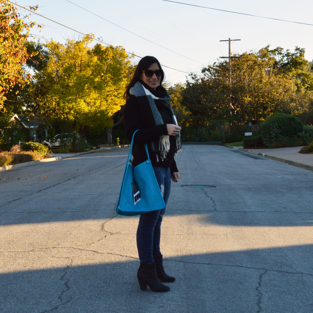 proenza schouler tote with casual outfit