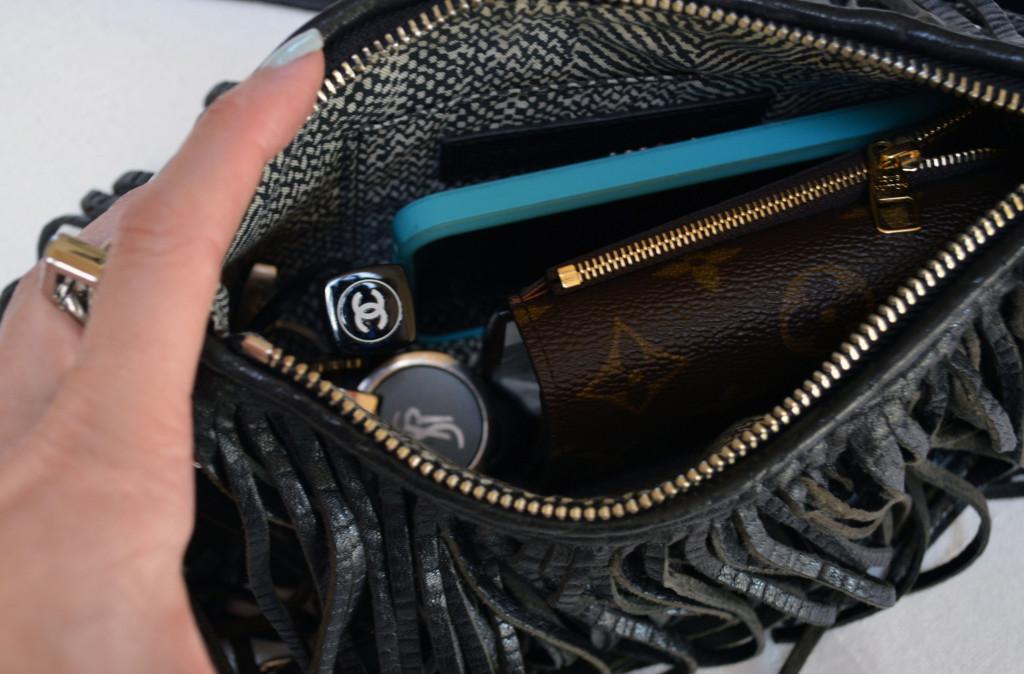 rebecca minkoff finn clutch what fits inside