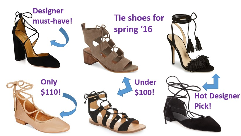 tie shoes for spring 2016
