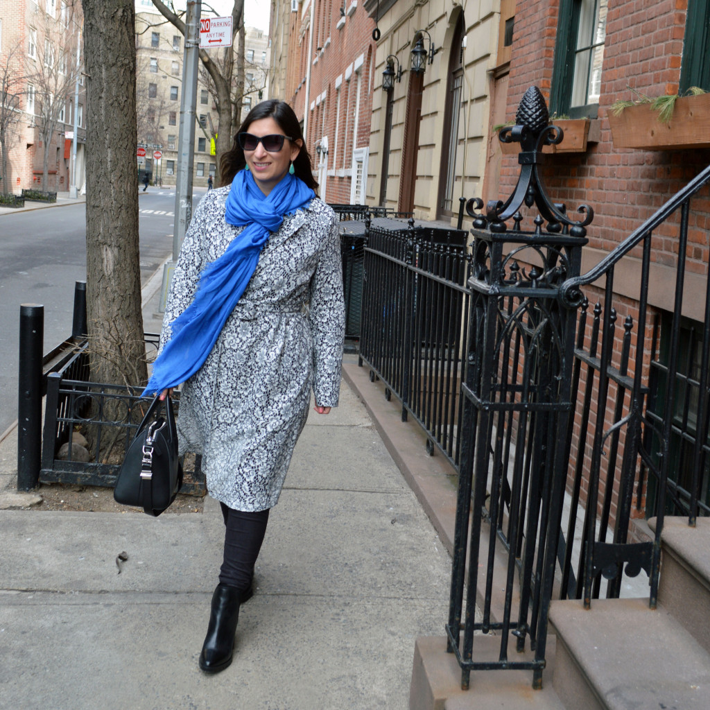 lace trench nyfw street style