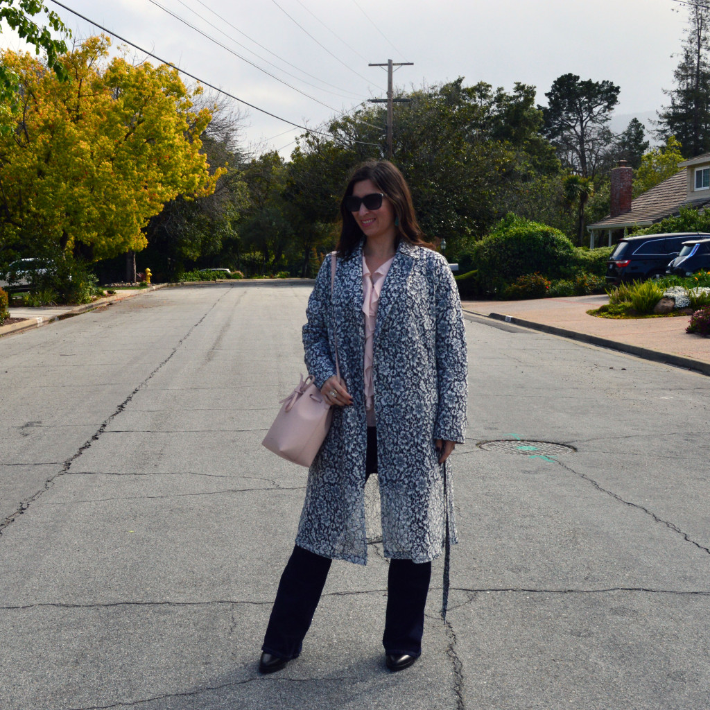 how to style a lace trench coat for spring