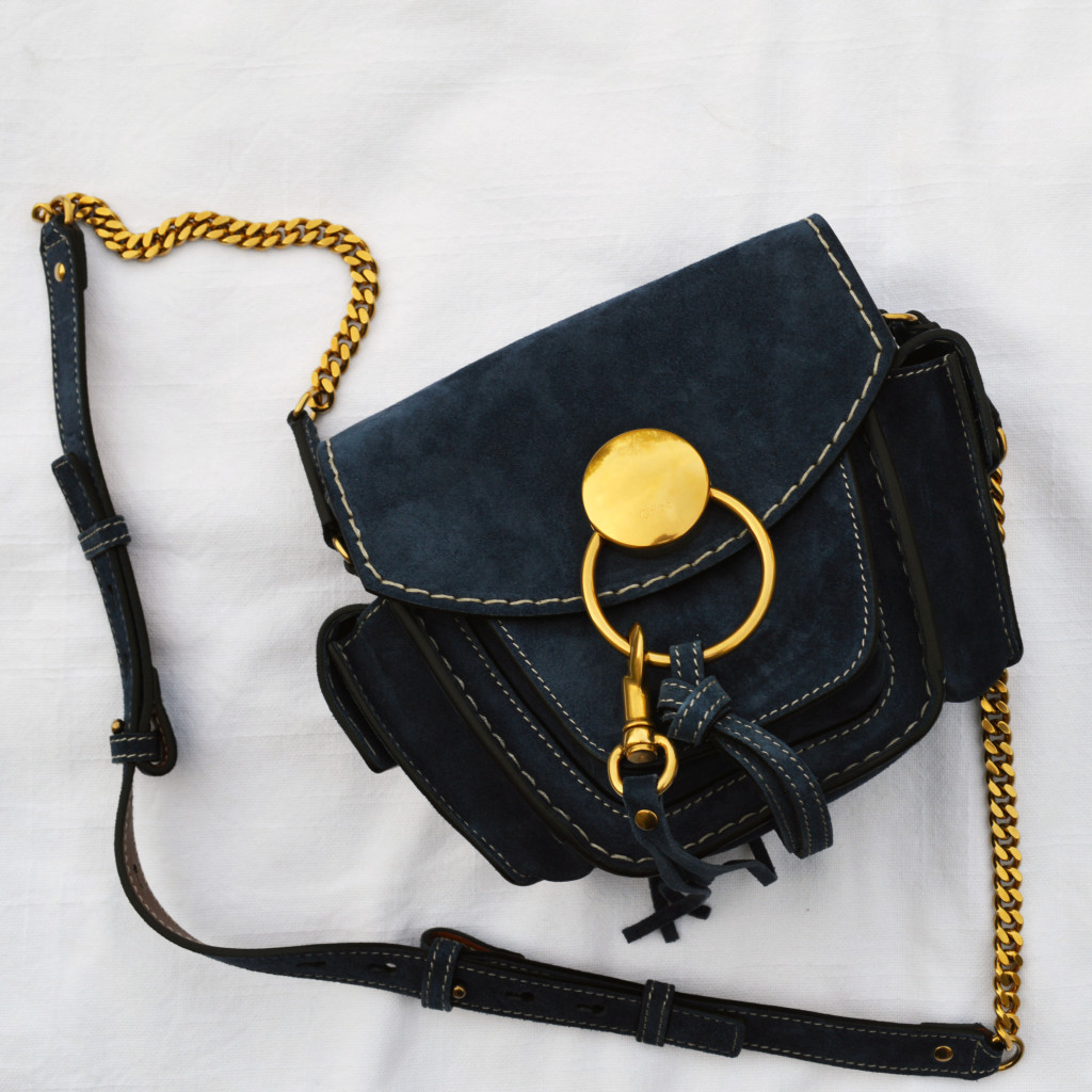 chloe jodie navy suede for spring